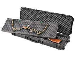 "SKB iSeries 5014 Double Bow/Quad Rifle Case with Wheels 50-1/2"" Polymer Black"