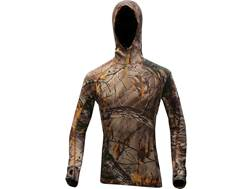 First Lite Women's Artemis Hooded Sweatshirt Merino Wool Realtree Xtra Camo