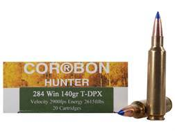 Cor-Bon DPX Hunter Ammunition 284 Winchester 140 Grain Tipped DPX Lead-Free Box of 20