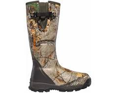 "LaCrosse Alphaburly Pro 18"" Waterproof 1000 Gram Insulated Hunting Boots Rubber Clad Neoprene Side-Zip Realtree Xtra Men's"