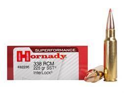 Hornady Superformance SST Ammunition 338 Ruger Compact Magnum (RCM) 225 Grain SST Box of 20