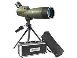 Barska Blackhawk Spotting Scope 20-60X 80mm Angled Body with Tripod, Hard and Soft Case Rubber Armored Green