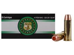 Copper Only Projectiles (C.O.P.) Ammunition 44 Remington Magnum 225 Grain Solid Copper Hollow Point Lead-Free Box of 25