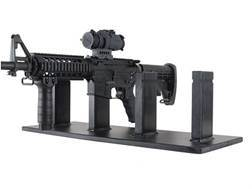 Plastix Plus AR-15 4-Gun Display Stand Plastic Black