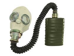 Military Surplus New Condition Polish M41 SMS Gas Mask with Filter, Nozzle & Bag