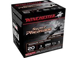 "Winchester Super-X Super Pheasant Ammunition 20 Gauge 3"" 1-1/4 oz #5 Copper Plated Shot Box of 25"