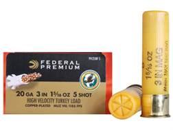 "Federal Premium Mag-Shok Turkey Ammunition 20 Gauge 3"" 1-5/16 oz #5 Copper Plated Shot High Velocity Box of 10"