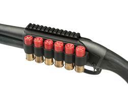 TacStar Shotshell Ammunition Carrier with Raised Picatinny Optic Rail 6-Round 12 Gauge Remington 870, 1100, 11-87 Aluminum Black