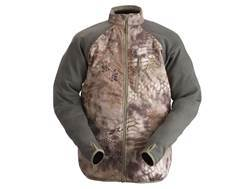 Kryptek Men's Borealis Hybrid Base Layer Insulated Shirt Wool and Polyester Highlander Camo