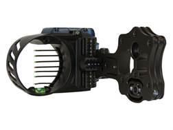 "IQ Bowsight with Retina Lock 7-Pin Bow Sight .019"" Pin Diameter Right Hand Aluminum Black"