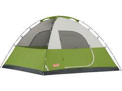 "Coleman Sundome 6 Man Dome Tent 120"" x 120"" x 72"" Polyester Green, White and Gray"