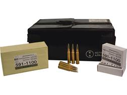 Military Surplus Ammunition 7.5mm Schmidt-Rubin (7.5x55mm Swiss) 174 Grain Full Metal Jacket GP 11 Case of 480 (48 Boxes of 10)