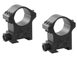 Talley 35mm Tactical Picatinny-Style Rings 6 Screw Black Armor Extra-High