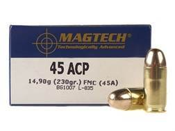 Magtech Sport Ammunition 45 ACP 230 Grain Full Metal Jacket