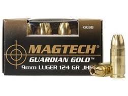 Magtech Guardian Gold Ammunition 9mm Luger 124 Grain Jacketed Hollow Point