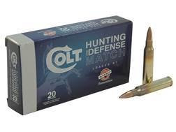 Colt Match Ammunition 5.56x45mm NATO 77 Grain Sierra MatchKing Hollow Point Boat Tail Box of 20
