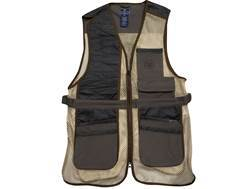 Beretta Two Tone Clays Shooting Vest Cotton Canvas/Polyester Loden/Khaki XL - Blemished