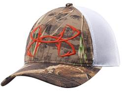 Under Armour UA Camo Fish Hook Mesh Cap Polyester Realtree Max 5 and Dynamite