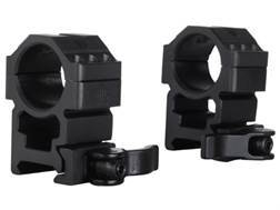 """Leapers UTG 1"""" Max Strength Tactical 6-Hole Quick Detachable Picatinny-Style Rings Matte"""
