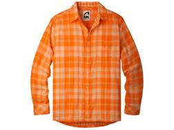 Mountain Khakis Men's Two Ocean Shirt Long Sleeve Cotton Cantaloupe and Sand Dollar XL 46-48