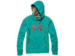 Under Armour Women's Storm Caliber Hooded Sweatshirt Polyester Gazebo Green and Realtree Xtra Small 4-6
