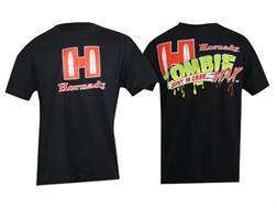 "Hornady Zombie T-Shirt Short Sleeve Cotton Black Large (44"")"