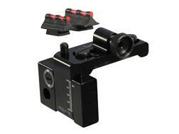 Williams Fire Sight Set Winchester 94 Top Eject Aluminum Black Fiber Optic Red Front, Rear Peep