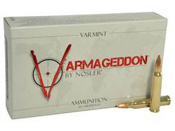 Nosler Varmageddon Ammunition 223 Remington 55 Grain Hollow Point Flat Base Box of 20