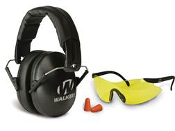 Walker's Youth & Women Earmuffs (NRR 27dB) and Shooting Glasses Kit