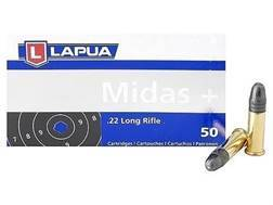 Lapua Midas+ Ammunition 22 Long Rifle 40 Grain Lead Round Nose Box of 500 (10 Boxes of 50)