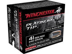 Winchester Supreme Ammunition 41 Remington Magnum 240 Grain Platinum Tip Hollow Point