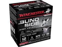 "Winchester Blind Side High Velocity Ammunition 12 Gauge 3"" 1-1/8 oz BB Non-Toxic Steel Shot"