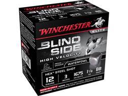 "Winchester Blind Side High Velocity Ammunition 12 Gauge 3"" 1-1/8 oz BB Non-Toxic Steel Shot"