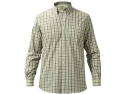Beretta Men's Never Iron Drip Dry Shirt Long Sleeve Cotton Green Check 2XL