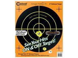 "Caldwell Orange Peel Targets 8"" Self-Adhesive Bullseye Package of 10"
