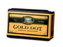 Speer Gold Dot Bullets 9mm (355 Diameter) 124 Grain Bonded Jacketed Hollow Point Box of 100