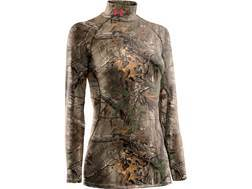 Under Armour Women's EVO Scent Control Mock Base Layer Shirt Long Sleeve Polyester Realtree Xtra Camo XS (0-2)