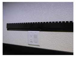 Inline Fabrication Wall Organizer Rail