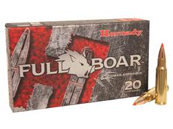 Hornady Full Boar Ammunition 6.8mm Remington SPC 100 Grain Gliding Metal Expanding Boat Tail Box of 20