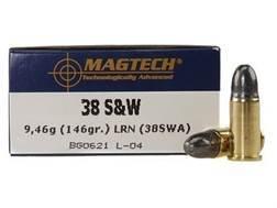 Magtech Sport Ammunition 38 S&W 146 Grain Lead Round Nose