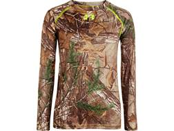 Under Armour Youth Scent Control EVO HeatGear Long Sleeve Crew Shirt Polyester Realtree Xtra