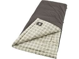Coleman Extended Camping Series 10 Degree Sleeping Bag Cotton Gray and Plaid