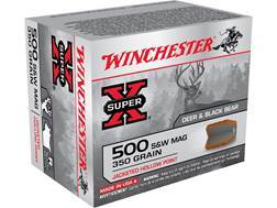 Winchester Super-X Ammunition 500 S&W Magnum 350 Grain Jacketed Hollow Point
