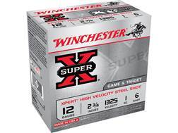 "Winchester Xpert Upland Game and Target Ammunition 12 Gauge 2-3/4"" 1 oz #6 Steel Shot"