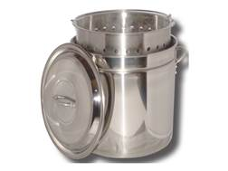 King Kooker 36 Qt Stainless Steel Boiling and Steaming Combo