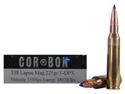 Cor-Bon DPX Hunter Ammunition 338 Lapua Magnum 225 Grain Tipped DPX Lead-Free Box of 20
