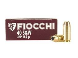 Fiocchi Shooting Dynamics Ammunition 40 S&W 165 Grain Jacketed Hollow Point Box of 50
