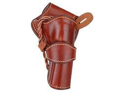 "Ross Leather Classic Belt Holster Right Hand Crossdraw Single Action 4-5/8"" Barrel Leather Tan"