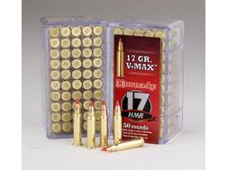 Hornady Varmint Express Ammunition 17 Hornady Magnum Rimfire (HMR) 17 Grain V-Max Box of 50