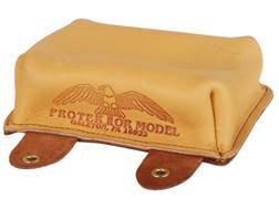 Protektor Large Sausage Front Shooting Rest Bag Leather Tan Filled